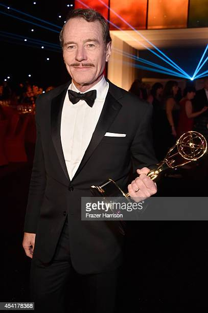 Actor Bryan Cranston, winner of the Outstanding Lead Actor in a Drama Series Award and Outstanding Drama Series Award for Breaking Bad attends the...