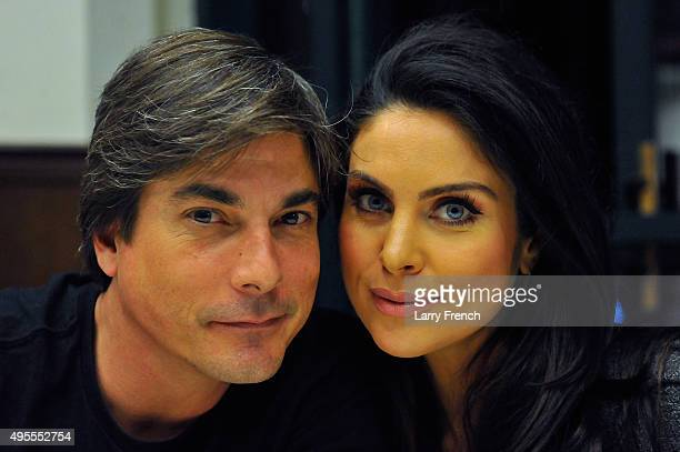 Actor Bryan Datillo and actress Nadia Bjorlin appears at the 'Days Of Our Lives' Book Signing Barnes And Noble on November 3 2015 in Bethesda Maryland