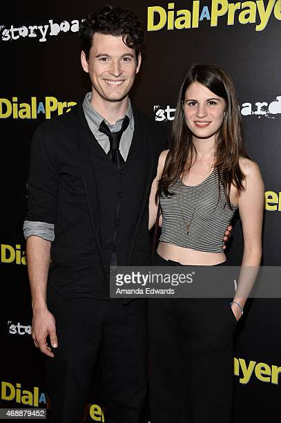 Actor Bryan Dechart and actress Amelia Rose Blaire arrive at the Los Angeles premiere of 'Dial A Prayer' at the Landmark Theater on April 7 2015 in...