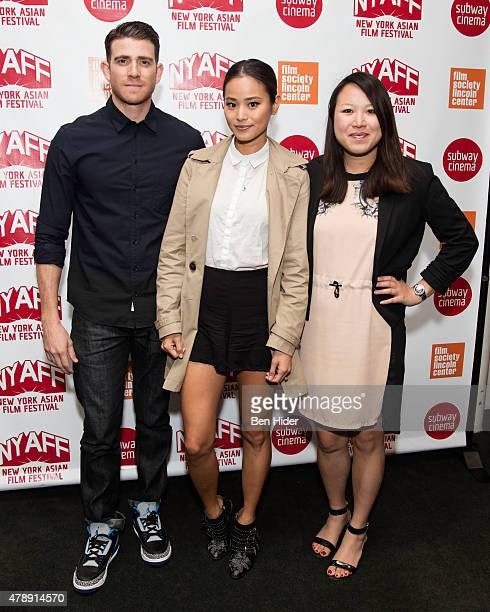Actor Bryan Greenberg Actress Jamie Chung and filmmaker Emily Ting attend the It's Already Tomorrow In Hong Kong Premiere at the 2015 New York Asian...