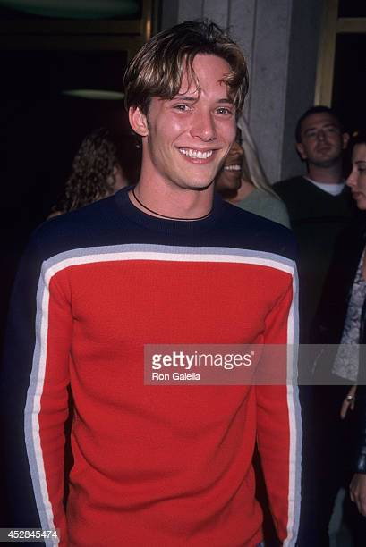 Actor Bryan Kirkwood attends the 'Pleasantville' Westwood Premiere on October 19 1998 at the Mann National Theatre in Westwood California