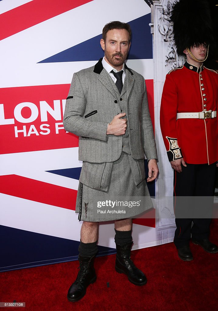 Actor Bryan Larkin attends the premiere of 'London Has Fallen' at ArcLight Cinemas Cinerama Dome on March 1, 2016 in Hollywood, California.
