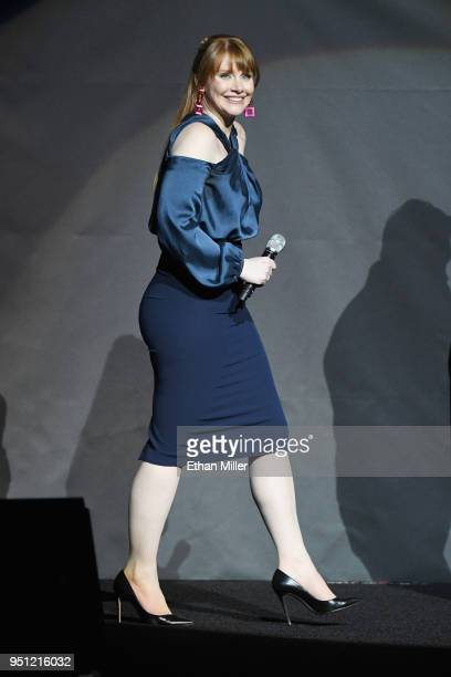 Actor Bryce Dallas Howard onstage during CinemaCon 2018 Universal Pictures Invites You to a Special Presentation Featuring Footage from its Upcoming...