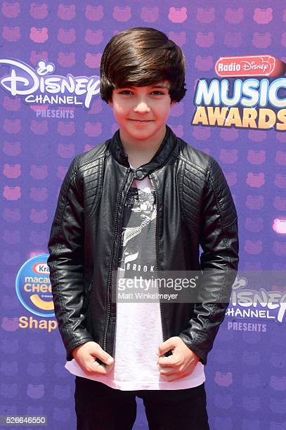 Actor Bryce Gheisar attends the 2016 Radio Disney Music Awards at Microsoft Theater on April 30 2016 in Los Angeles California