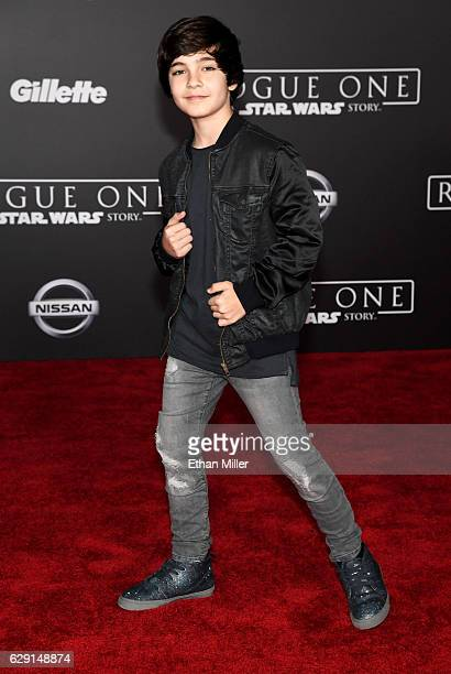 Actor Bryce Gheisar attends the premiere of Walt Disney Pictures and Lucasfilm's Rogue One A Star Wars Story at the Pantages Theatre on December 10...