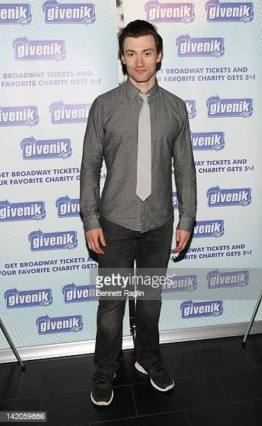 Actor Bryce Pinkham attends the Ghost The Musical postperformance reception at the Paramount Hotel on March 28 2012 in New York City