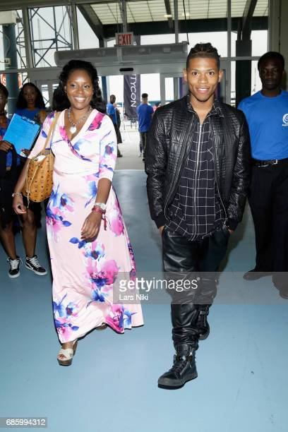 Actor Bryshere Gray and a guest attend Beautycon Festival NYC 2017 at Brooklyn Cruise Terminal on May 20 2017 in New York City