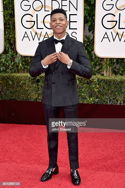 Actor Bryshere Y Gray attends the 73rd Annual Golden Globe Awards held at the Beverly Hilton Hotel on January 10 2016 in Beverly Hills California