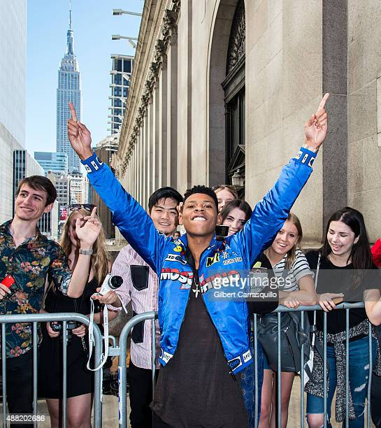 Actor Bryshere Y Gray is seen arriving at Jeremy Scott fashion show during Spring 2016 New York Fashion Weekon September 14 2015 in New York City