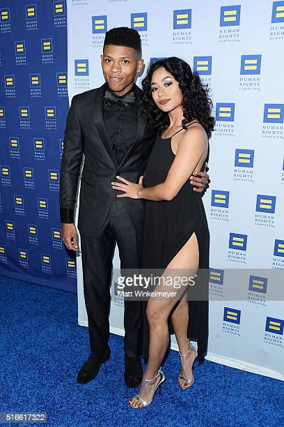 Actor Bryshere 'Yazz' Gray arrives at the Human Rights Campaign 2016 Los Angeles Gala Dinner at JW Marriott Los Angeles at LA LIVE on March 19 2016...