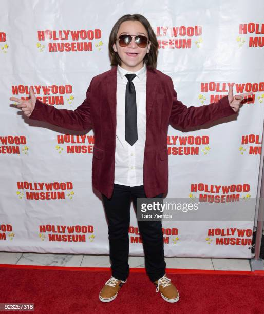 Actor Bryson Robinson attends 'ANNETTE America's Girl Next Door and the Queen of Teen' exhibit opening night preview at The Hollywood Museum on...