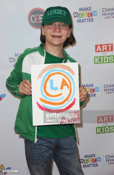 Actor Bryson Robinson attends Art For Kids And The Cast Of USA Networks' 'The Secret Lives Of Kids' Create Art To Benefit Children's Hospital Of Los...