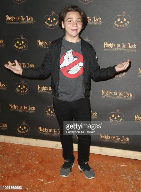 Actor Bryson Robinson attends Nights of the Jack Halloween Activation Launch Party at the King Gillette Ranch on October 10 2018 in Calabasas...