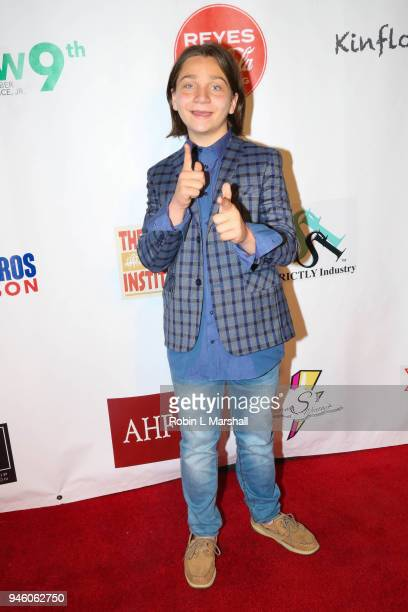 Actor Bryson Robinson attends the 12th Annual Santee High School Fashion Show at Los Angeles Trade Technical College on April 13 2018 in Los Angeles...