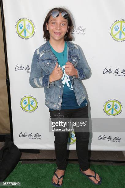 Actor Bryson Robinson attends the Fur Feather Animal Sanctuary's 'Paint 4 Paws' Charity Benefit at Color Me Mine on June 29 2018 in Studio City...