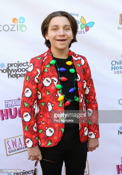 ActOR Bryson Robinson attends the 'Project Hollywood Helpers' community service event at the Skirball Cultural Center on December 08 2018 in Los...