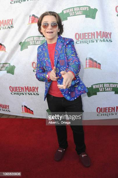 Actor Bryson Robinson attends the Queen Mary Christmas Media VIP Night held on November 26 2018 in Long Beach California