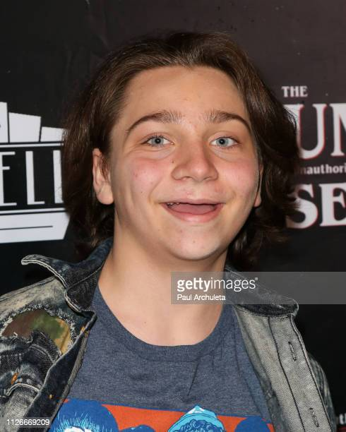 Actor Bryson Robinson attends the unauthorized musical parody of 'Stranger Things' special Social Media night performance at Rockwell Table and Stage...