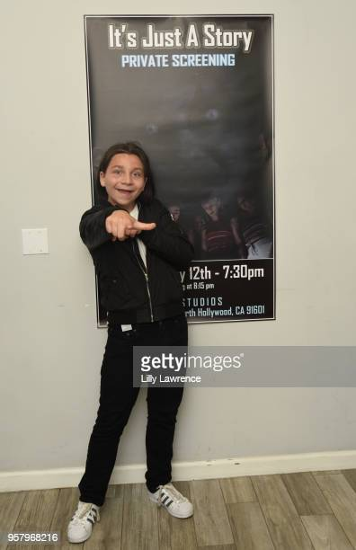 Actor Bryson Robinson attends world premiere of Allisyn Ashley Arm's 'It's Just A Story' at Gray Studios on May 12 2018 in Los Angeles California