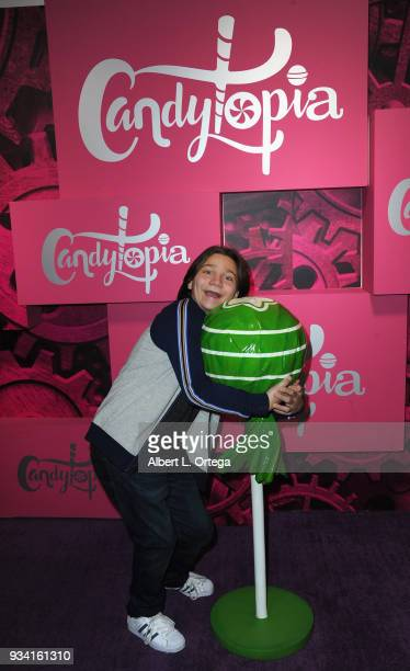 Actor Bryson Robinson participates in Talent Day At Candytopia held at Santa Monica Place on March 18 2018 in Santa Monica California