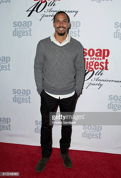 Actor Bryton James attends Soap Opera Digest Celebrates 40th Anniversary at The Argyle on February 24 2016 in Hollywood California