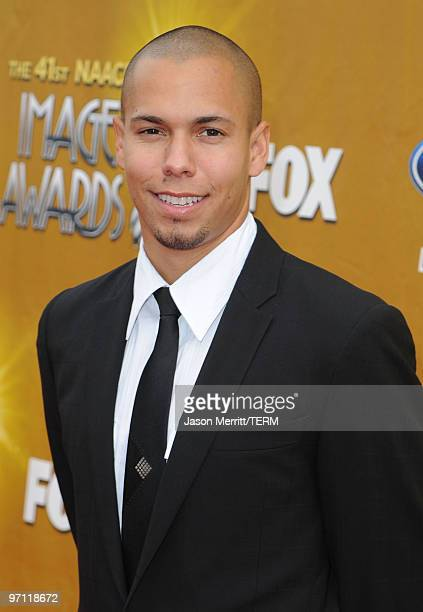 Actor Bryton McClure arrives at the 41st NAACP Image awards held at The Shrine Auditorium on February 26 2010 in Los Angeles California