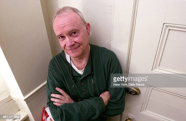 Actor Buck Henry in his dressing room at the Lyceum Theatre on W 45th St where he is starring in the Broadway revival of the play Morning's at Seven