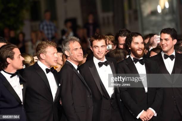 Actor Buddy Duress producer Sebastian BearMcClard Guest actor Robert Pattinson writer and codirector Joshua Safdie and codirector Ben Safdie attend...