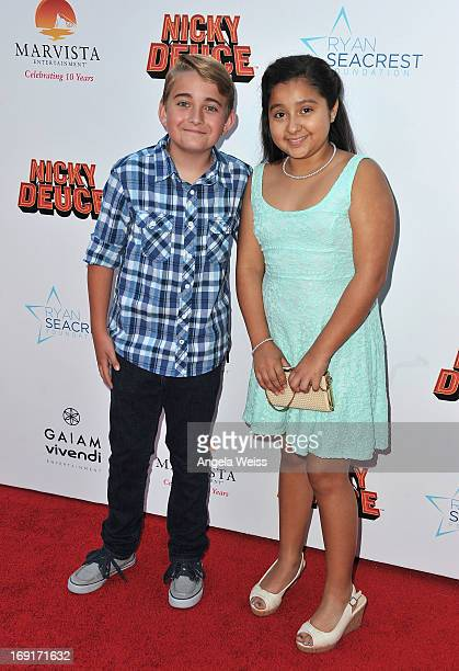 Actor Buddy Handleson arrives at the premiere of Nickelodeon's 'Nicky Deuce' at ArcLight Cinemas on May 20 2013 in Hollywood California