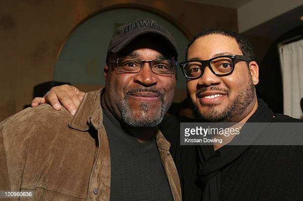 Actor Buddy Lewis and actor Cedric Yarbrough attend the Black Dynamite Party at the Film Lounge Media Center on January 19 2009 in Park City Utah