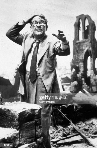 """Actor Burgess Meredith performs in the television show """"The Twilight Zone."""""""