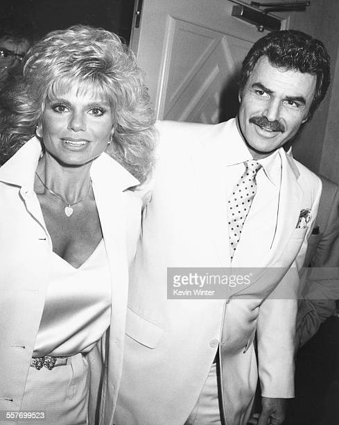 Actor Burt Reynolds and his wife Loni Anderson attending the 2nd Annual Kodak Awards at the Roosevelt Hotel Los Angeles March 27th 1987