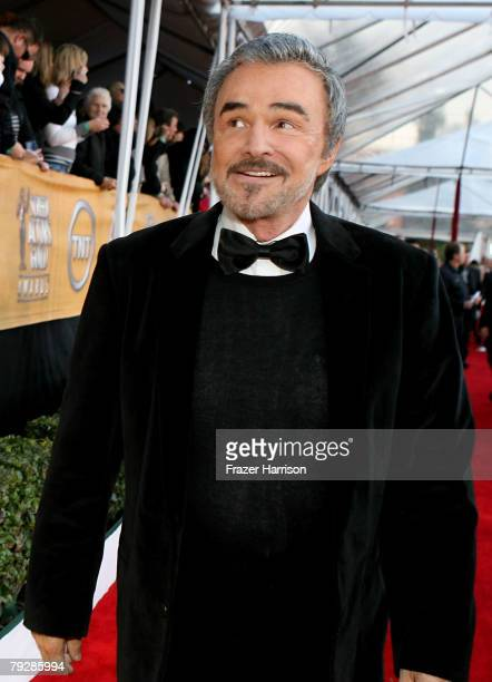 Actor Burt Reynolds arrives at the 14th annual Screen Actors Guild awards held at the Shrine Auditorium on January 27 2008 in Los Angeles California