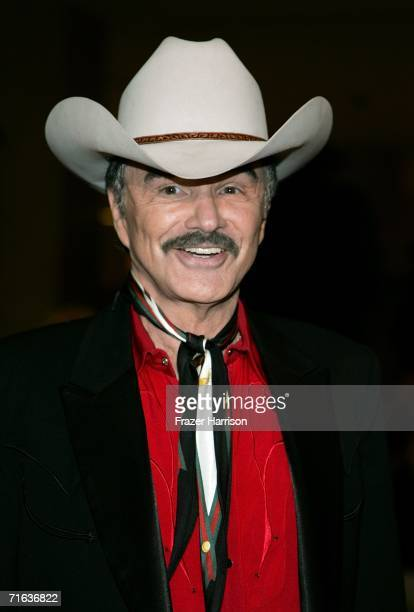 Actor Burt Reynolds attends the Golden Boot Awards held at the Beverly Hilton Hotel on August 12 2006 in Beverly Hills California