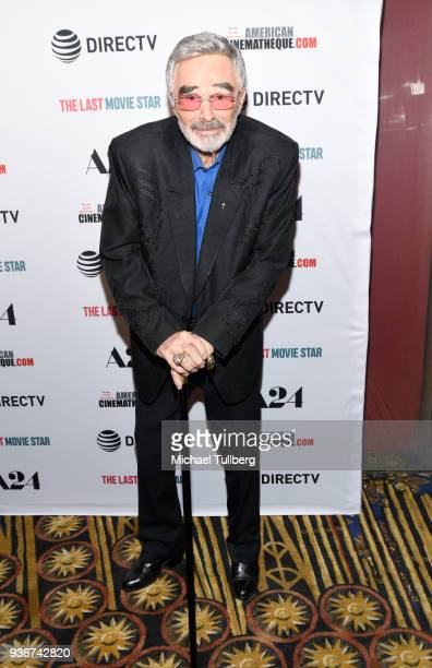 Actor Burt Reynolds attends the Los Angeles premiere of The Last Movie Star at the Egyptian Theatre on March 22 2018 in Hollywood California