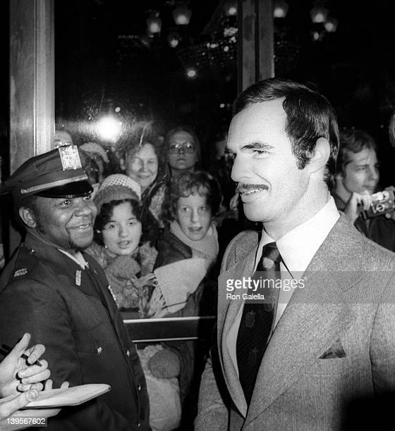 Actor Burt Reynolds attends the premiere of Lucky Lady on December 11 1975 at the Ziegfeld Theater in New York City