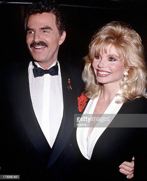 Actor Burt Reynolds with his wife actress Loni Anderson circa 1992