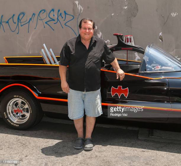Actor Burt Ward makes an appearance with the Batmobile at In Person Inc on June 29 2013 in Hollywood California