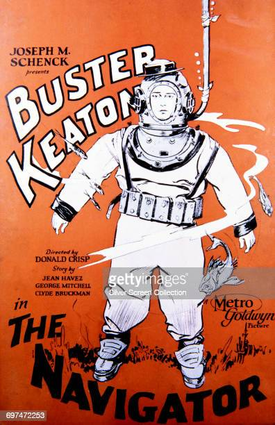 Actor Buster Keaton as Rollo Treadway on a poster for the MetroGoldwyn film 'The Navigator' 1924
