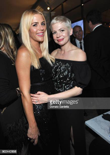 Actor Busy Philipps and Michelle Williams attend the 2018 InStyle and Warner Bros 75th Annual Golden Globe Awards PostParty at The Beverly Hilton...