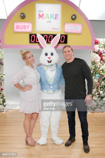Actor Busy Philipps and NFL player Clay Matthews III behind the scenes of Making with Michaels at Stage THIS on March 2 2017 in Sun Valley California
