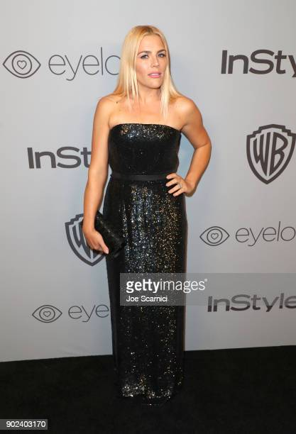 Actor Busy Philipps attends the 2018 InStyle and Warner Bros 75th Annual Golden Globe Awards PostParty at The Beverly Hilton Hotel on January 7 2018...