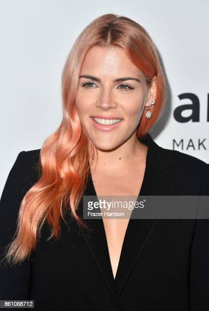 Actor Busy Philipps attends the amfAR Gala at Ron Burkle's Green Acres Estate on October 13 2017 in Beverly Hills California