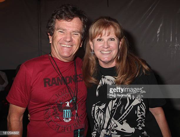 Actor Butch Patrick and actress PJ Soles attend the 8th Annual Johnny Ramone Tribute at Hollywood Forever Cemetery on August 19 2012 in Hollywood...