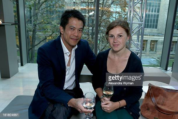 Actor Byron Mann and guest attend the FINCA Canada Fundraiser At TIFF 2012 during the Toronto International Film Festival on September 11 2012 in...