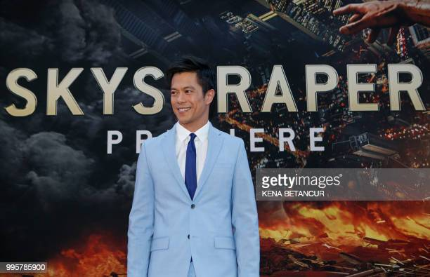 Actor Byron Mann attends the premiere of 'Skyscraper' on July 10 2018 in New York City