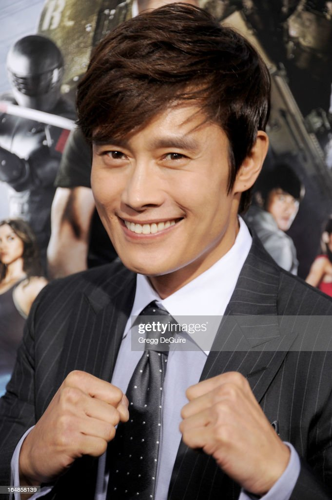 Actor Byung-hun Lee arrives at the 'G.I. Joe: Retaliation' Los Angeles premiere at TCL Chinese Theatre on March 28, 2013 in Hollywood, California.