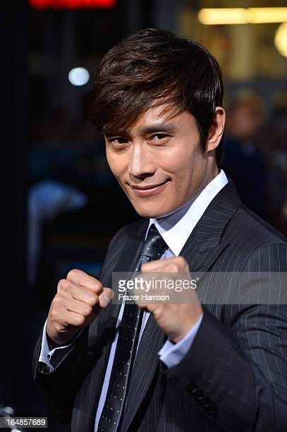 Actor ByungHun Lee arrives at the Premiere of Paramount Pictures' GI Joe Retaliation at TCL Chinese Theatre on March 28 2013 in Hollywood California