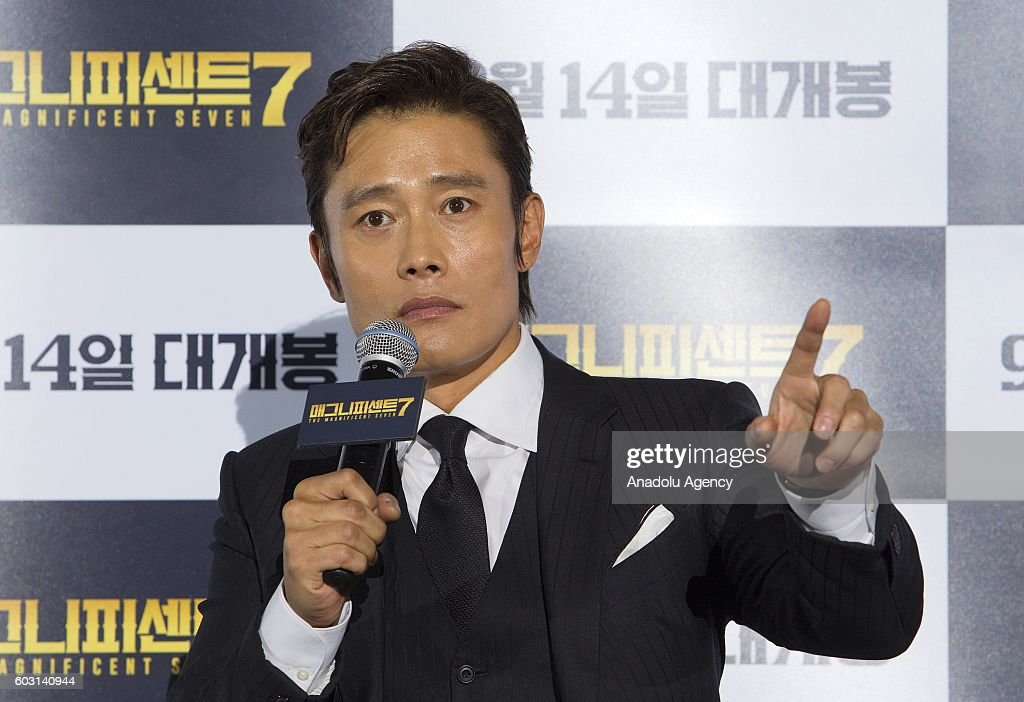 Actor Byung-hun Lee attends a press conference to promote his new movie 'The Magnificent Seven' at Coex Megabox in Seoul, South Korea on September 12, 2016.