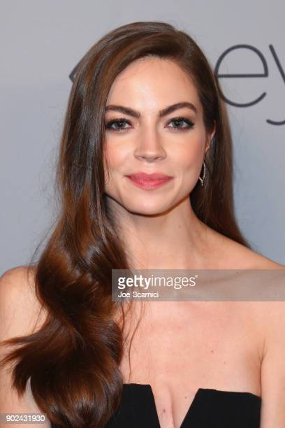Actor Caitlin Carver attends the 2018 InStyle and Warner Bros 75th Annual Golden Globe Awards PostParty at The Beverly Hilton Hotel on January 7 2018...